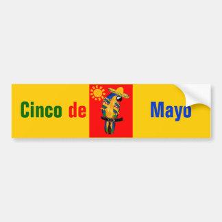 Cinco de Mayo Parrot Car Bumper Sticker
