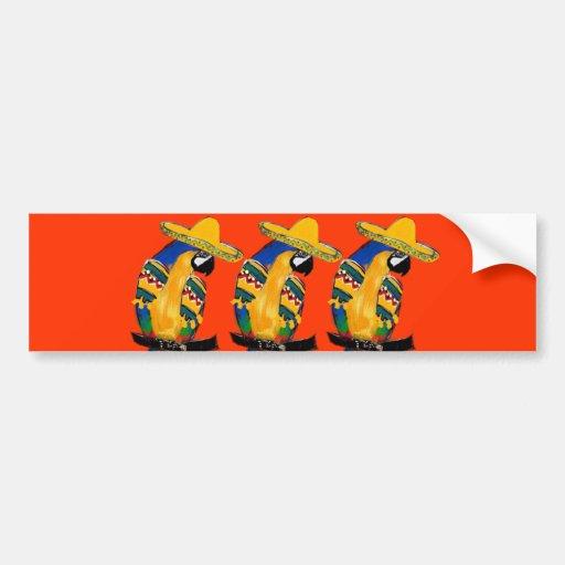 Cinco de Mayo Parrots Bumper Sticker