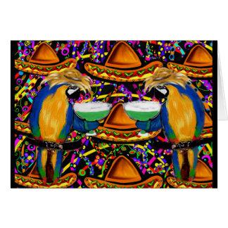 Cinco De Mayo Party Parrots! Card