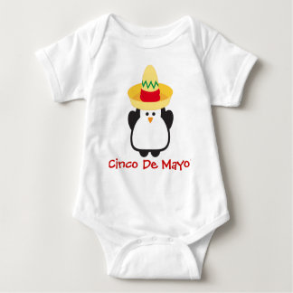Cinco de Mayo Penguin Baby Shirt