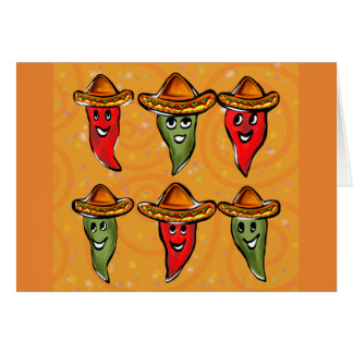 Cinco de Mayo Peppers Card