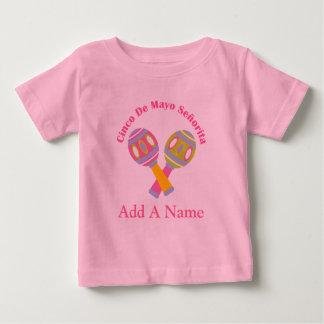 Cinco De Mayo Personalized Kids Tee Shirt