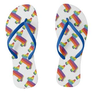 Cinco de Mayo Rainbow Donkey Piñata Fiesta Pride Thongs
