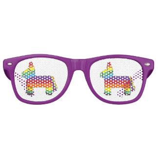 Cinco de Mayo Rainbow Fiesta Birthday Party Pride Retro Sunglasses