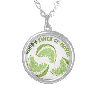 Cinco De Mayo Round Pendant Necklace