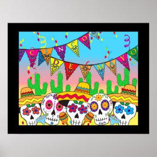 Cinco de Mayo Sugar Skull Print