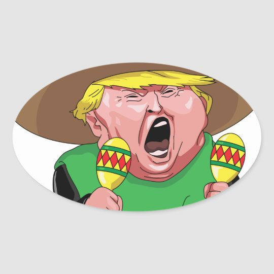 Cinco de Mayo trump Oval Sticker