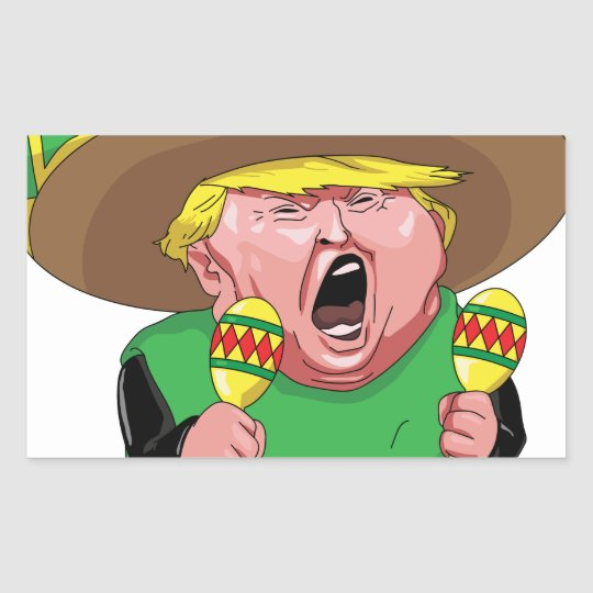 Cinco de Mayo trump Rectangular Sticker