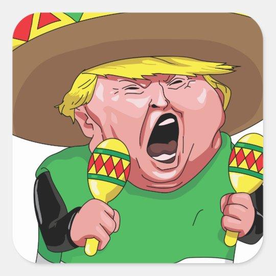 Cinco de Mayo trump Square Sticker