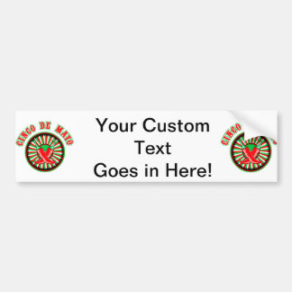 Cinco de mayo w pepper seal bumper sticker