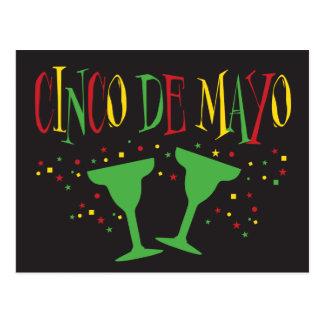 Cinco de Mayo with Margaritas Postcard