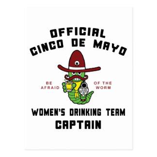 Cinco de Mayo Women s Drinking Team Captain Post Card