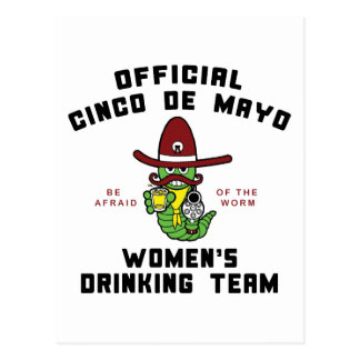 Cinco de Mayo Women s Drinking Team Postcards