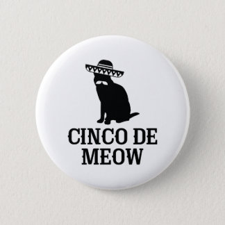 Cinco De Meow 6 Cm Round Badge
