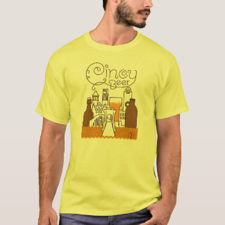Cincy Beer Tee — Brown Lines