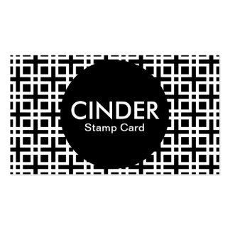 cinder stamp card pack of standard business cards