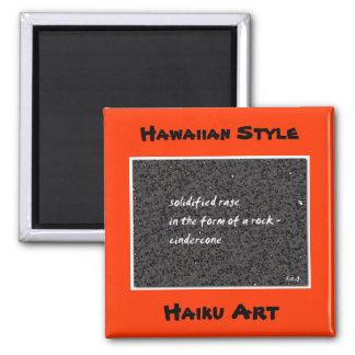 Cindercone Hawaiian Style Haiku Art Magnet