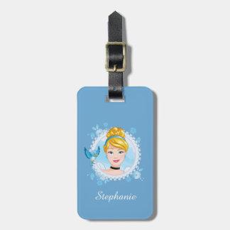 Cinderella And Blue Bird Luggage Tag