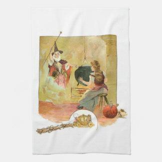 Cinderella And Her Fairy God Mother Tea Towel