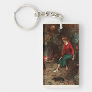 Cinderella and the glass slipper key ring