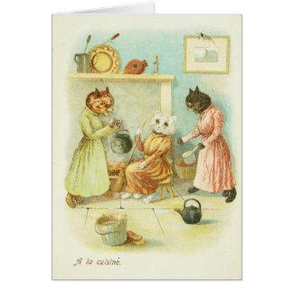 Cinderella Cat Card