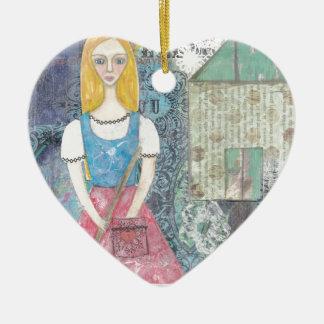 Cinderella Ceramic Heart Decoration