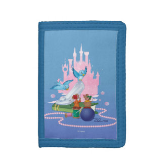 Cinderella | Glass Slipper And Mice Trifold Wallets