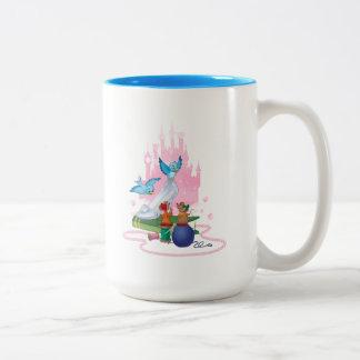Cinderella | Glass Slipper And Mice Two-Tone Coffee Mug