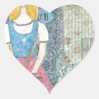 Cinderella Heart Sticker