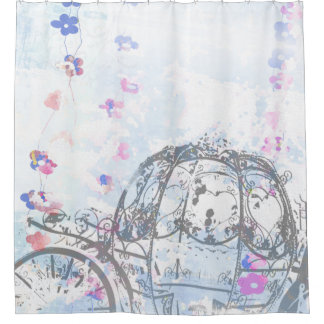 Cinderella Inspired Carriage Shower Curtain