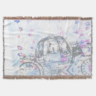 Cinderella Inspired Carriage Throw Blanket