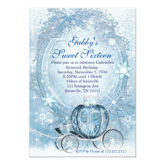 Cinderella Invitation, Cinderella Sweet Sixteen 13 Cm X 18 Cm Invitation Card