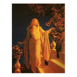 Cinderella Maxfield Parrish Fine Art Postcard