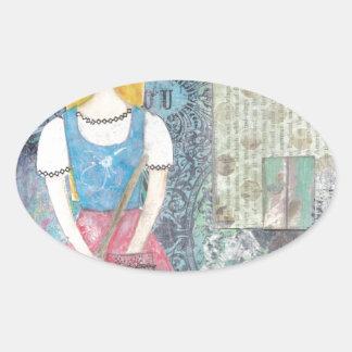 Cinderella Oval Sticker