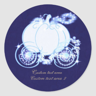 Cinderella Princess Blue Carriage Elegant Sticker