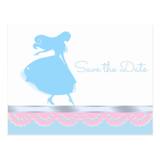 Cinderella Princess Save The Date Postcards