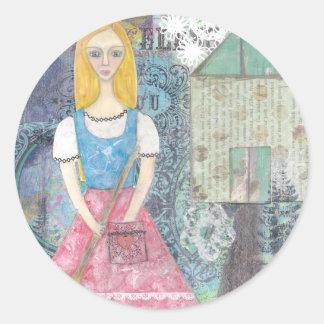 Cinderella Round Sticker