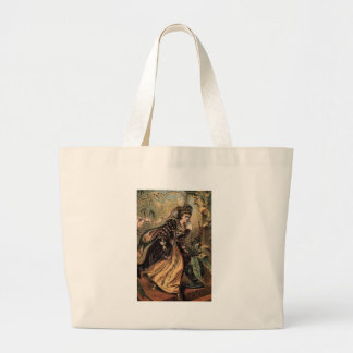 Cinderella Running Away from the Ball Jumbo Tote Bag