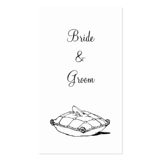 Cinderella Slipper on Pillow Custom Wedding Tag Pack Of Standard Business Cards