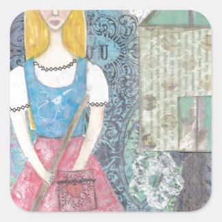 Cinderella Square Sticker