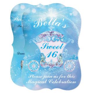 Cinderella Sweet 16 Birthday Party Invitations