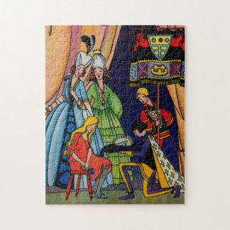 Cinderella, the prince and the glass slipper jigsaw puzzles