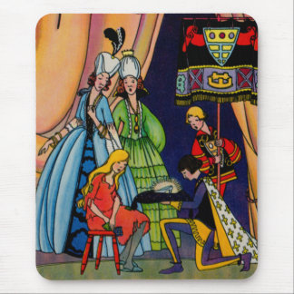 Cinderella, the prince and the glass slipper mouse pad