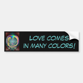 cinderellas carriage, Love comes in many colors! Bumper Sticker