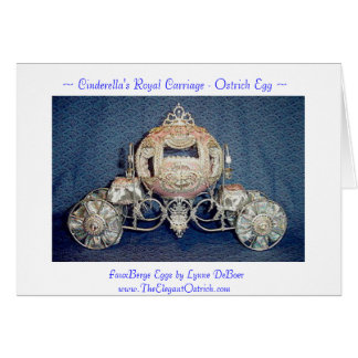 Cinderella's Carriage Stationary Card