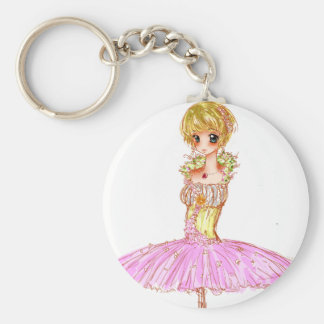 Cinderella's Doll Basic Round Button Key Ring
