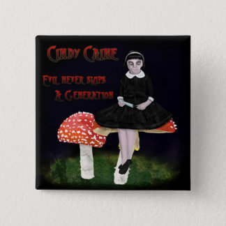 Cindy Caine 15 Cm Square Badge