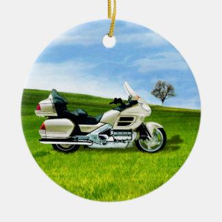 Cindy Johnson Motorcycle Ceramic Ornament