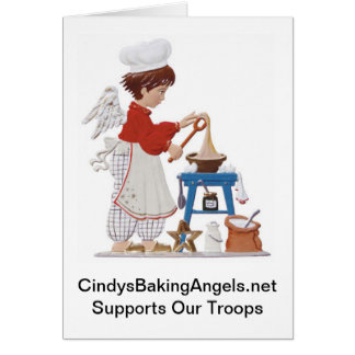 Cindy's Baking Angels Note Card
