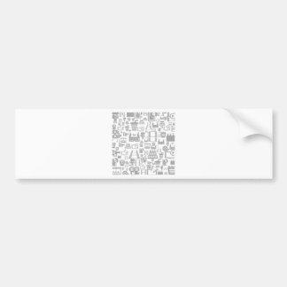 Cinema a background bumper sticker
